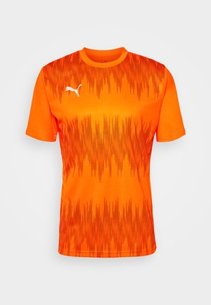 GRAPHIC CORE - Sports shirt - shocking orange/asphalt