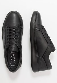 Calvin Klein - FORSTER LOW TOP LACE UP SOFT - Trainers - black - 1