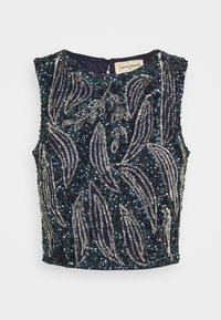 Lace & Beads - PICASSO LEAF - Top - navy - 3