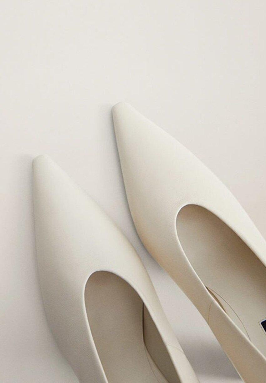 Mango BON - Sandaler med høye hæler - cremeweiß