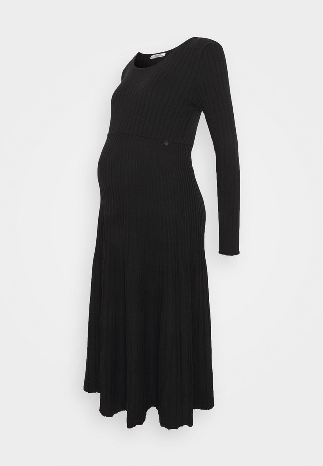 DRESS PLEATED TRICOT - Jumper dress - black