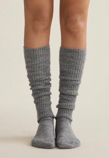 Knee high socks - light grey