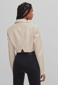 Bershka - Faux leather jacket - stone - 2