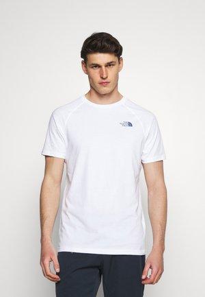 TEE - T-shirt med print - white/vintage indigo