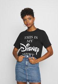 JDY - LIFE  - Print T-shirt - black/text - 0