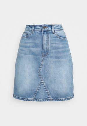 OBJGLORIA SKIRT  - Denim skirt - light blue denim