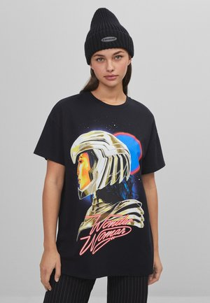 Print T-shirt - black