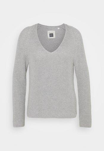 LONGSLEEVE V NECK - Pullover - chalk grey melange