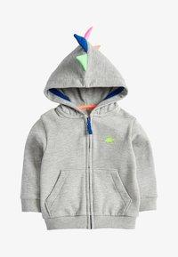 Next - GREY MARL DINO SPIKE ZIP THROUGH HOODY (3MTHS-7YRS) - Zip-up hoodie - grey - 0