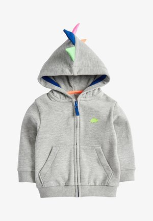 GREY MARL DINO SPIKE ZIP THROUGH HOODY (3MTHS-7YRS) - Zip-up hoodie - grey