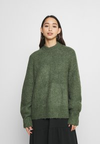 Monki - SONJA - Jumper - khaki green medium dusty - 0