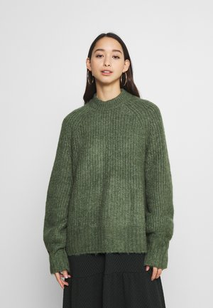 SONJA - Pullover - khaki green medium dusty