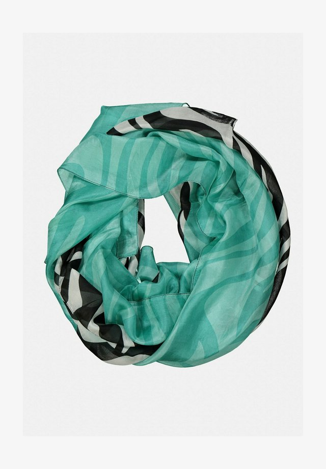 Sjaal - black, turquoise