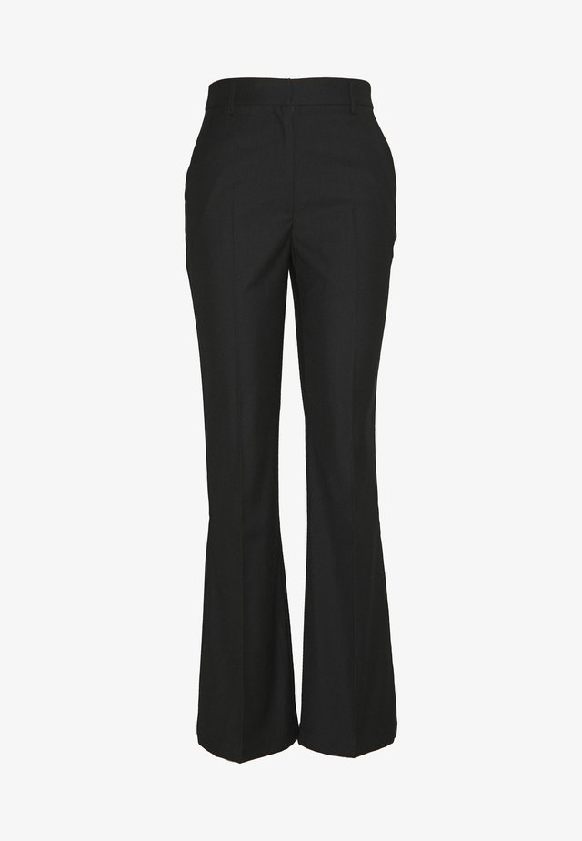 WIDE CUFF PANTS - Bukser - black