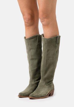 RAIDDAN - Cowboy/Biker boots - khaki