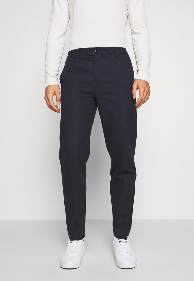 CROPPED PANTS - Pantaloni - navy