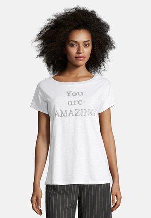 AUFDRUCK - Print T-shirt - weiß