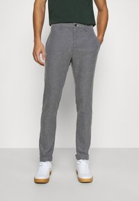 GANT - Trousers - charcoal melange - 0