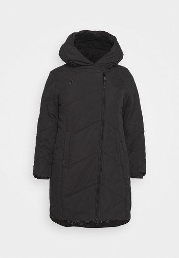GORDON LONG PLUS - Winter coat - black