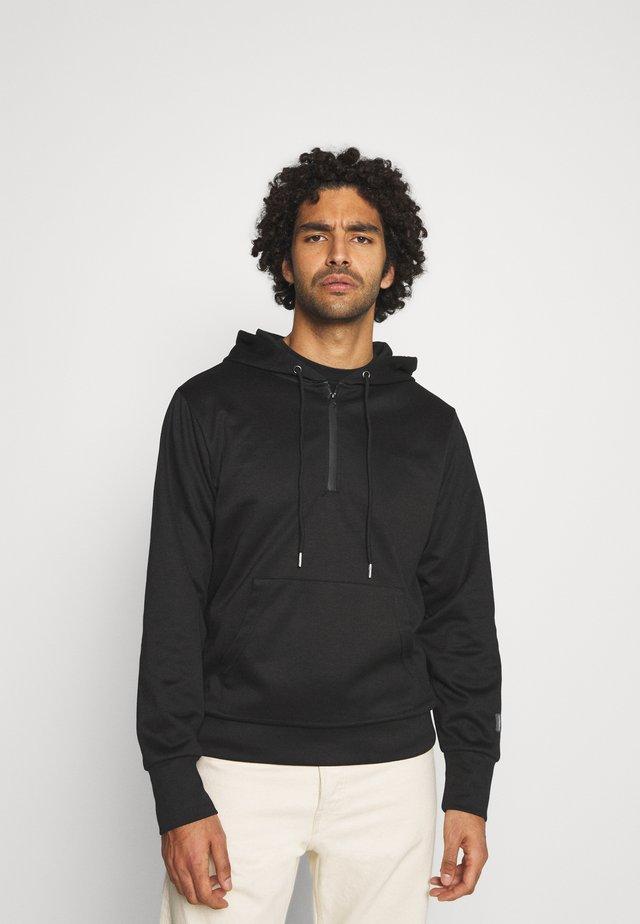 ESSENTIAL ZIP UP HOODIE - Bluza z kapturem - black