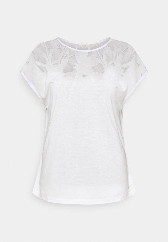 LEHOO - T-shirt z nadrukiem - white