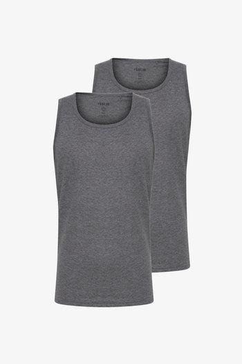 2PACK - Top - grey melange