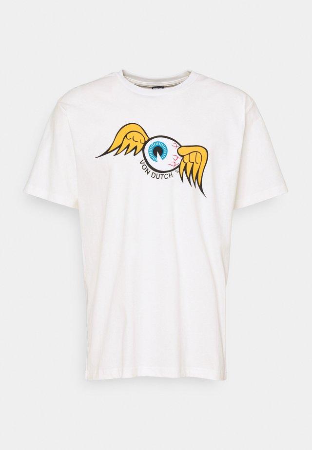 QUINN - Print T-shirt - white