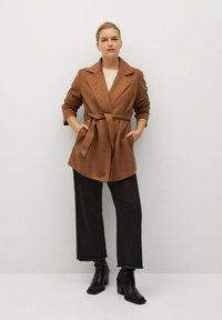 Violeta by Mango - CLARA - Short coat - bruin - 1