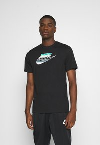 Nike Sportswear - TEE BRANDMARK - Triko spotiskem - black - 0