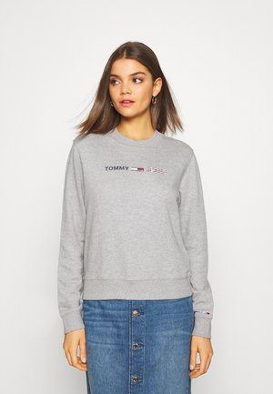 MODERN LOGO CREW - Sweater - mottled light grey