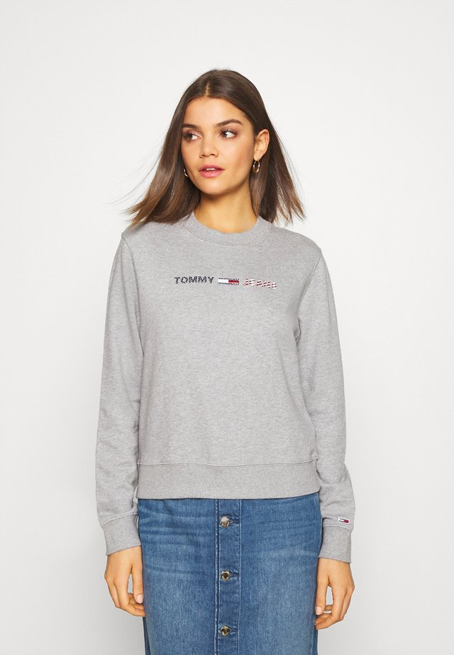 MODERN LOGO CREW - Sweatshirt - mottled light grey