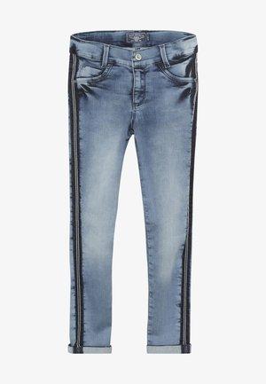 GIRLS STREIFEN CROPPED - Jeans Skinny - light blue