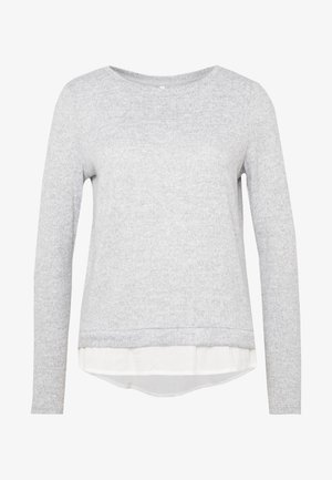 ONLASHLEY PLACKET MIX - Jumper - light grey melange