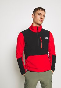 The North Face - MENS GLACIER PRO 1/4 ZIP - Fleecová mikina - fiery red/black - 0