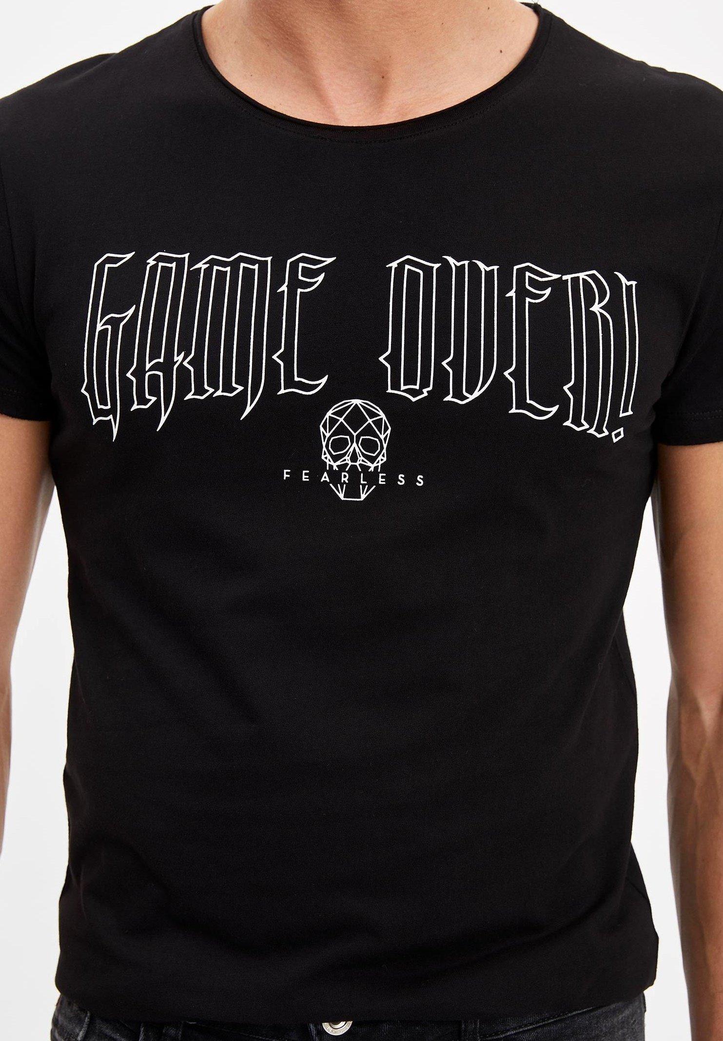 DeFacto Print T-shirt - black bK4Vy