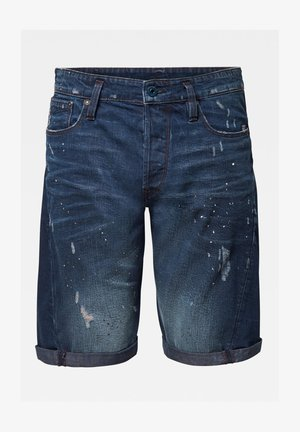 SCUTAR 3D - Jeans Shorts - worn in taint destroyed