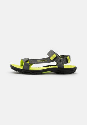 UNISEX - Walking sandals - grey/lime