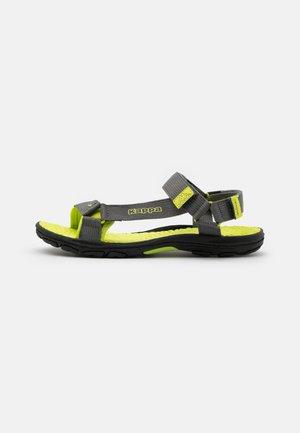 UNISEX - Sandales de randonnée - grey/lime