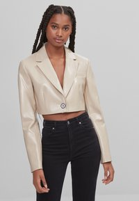 Bershka - Faux leather jacket - stone - 0