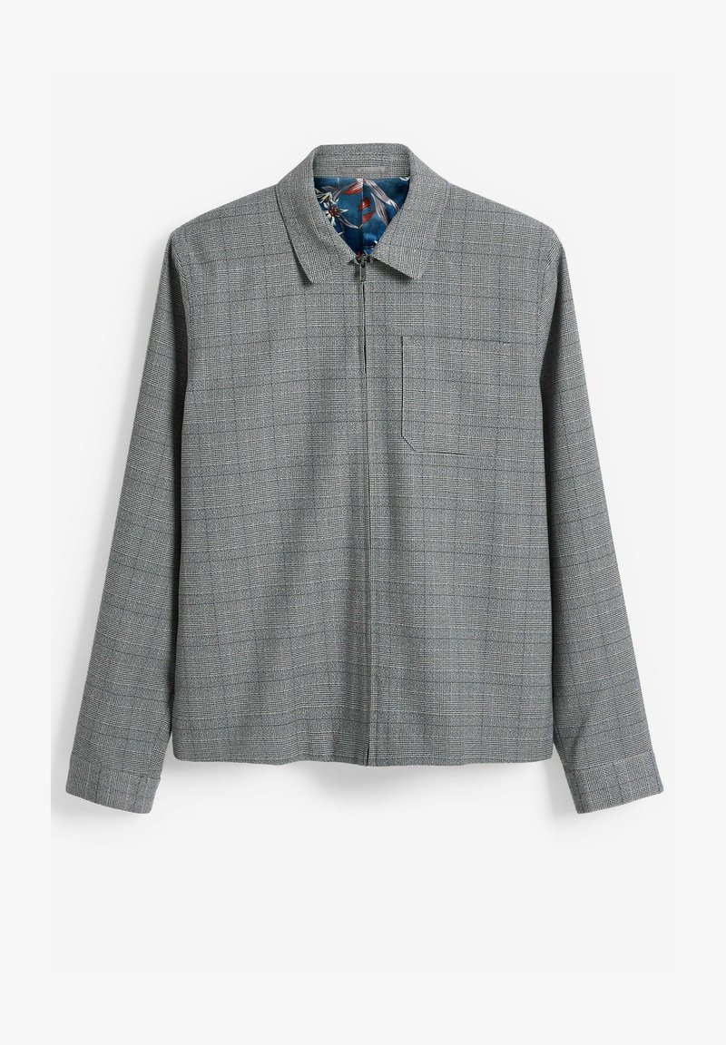 Next - CHECK SHACKET - Blazer jacket - light grey