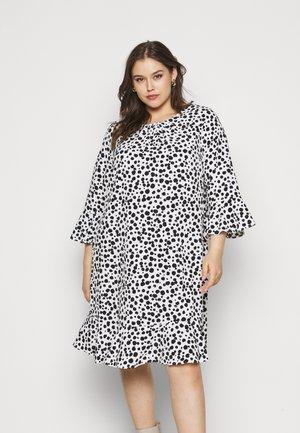 MONO FRILL SPOT DRESS - Vestito estivo - black /white