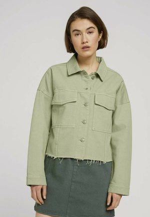 Denim jacket - light moor green