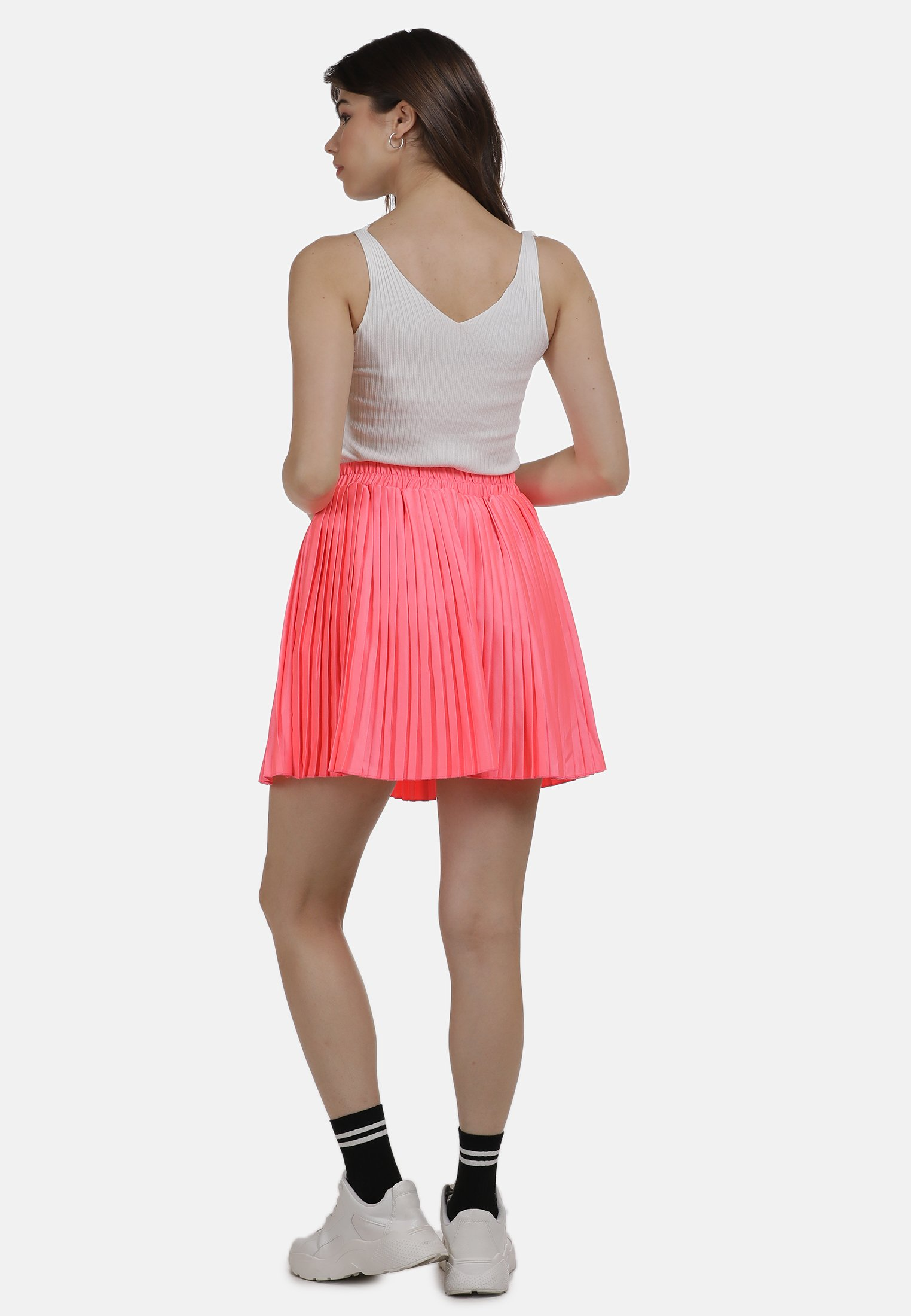 2020 Women's Clothing myMo ROCK Pleated skirt neon pink W3dUFb32y