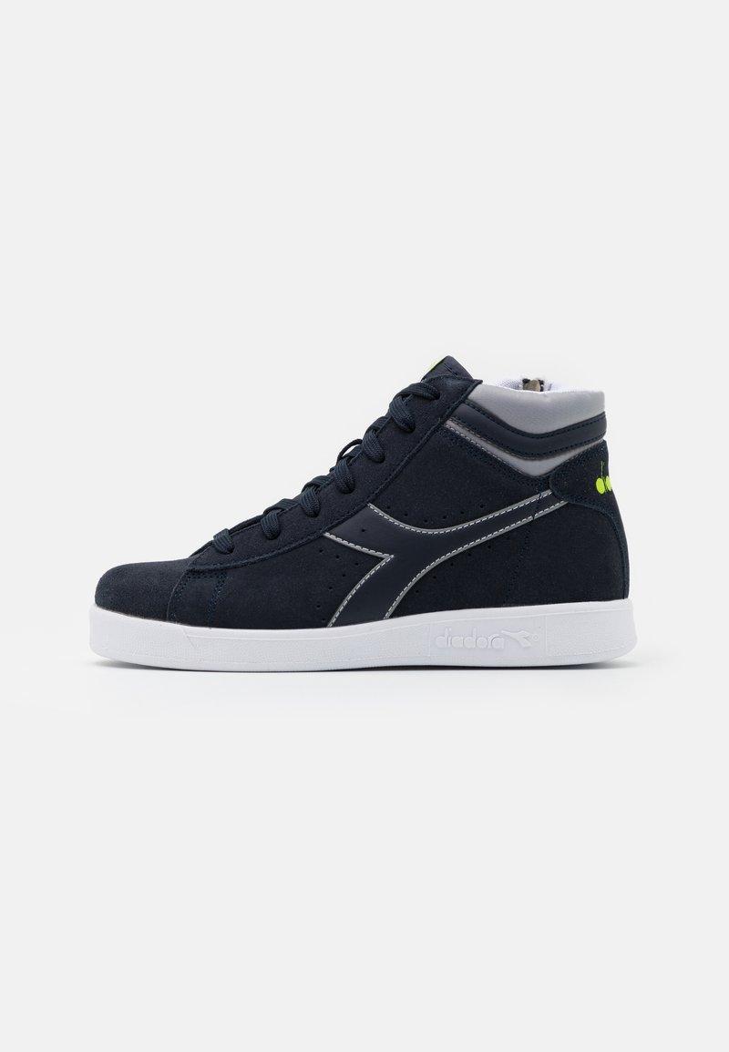 Diadora - GAME S HIGH UNISEX - Sports shoes - blue nights/ash