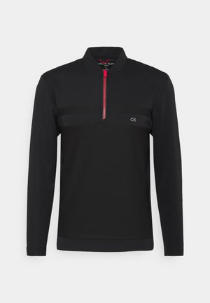 BRAID HALF ZIP - Long sleeved top - black