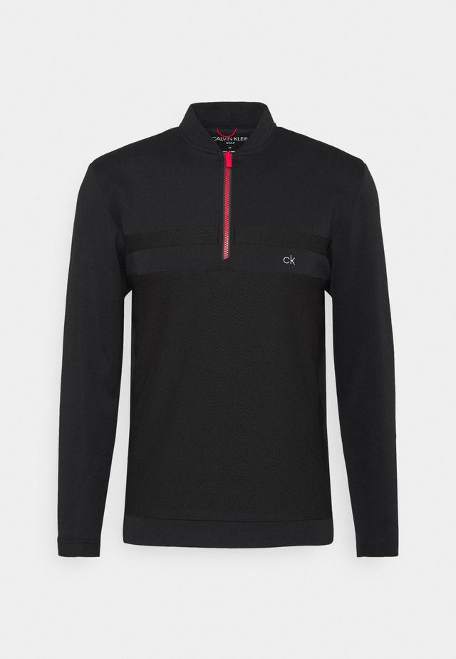 BRAID HALF ZIP - T-shirt à manches longues - black