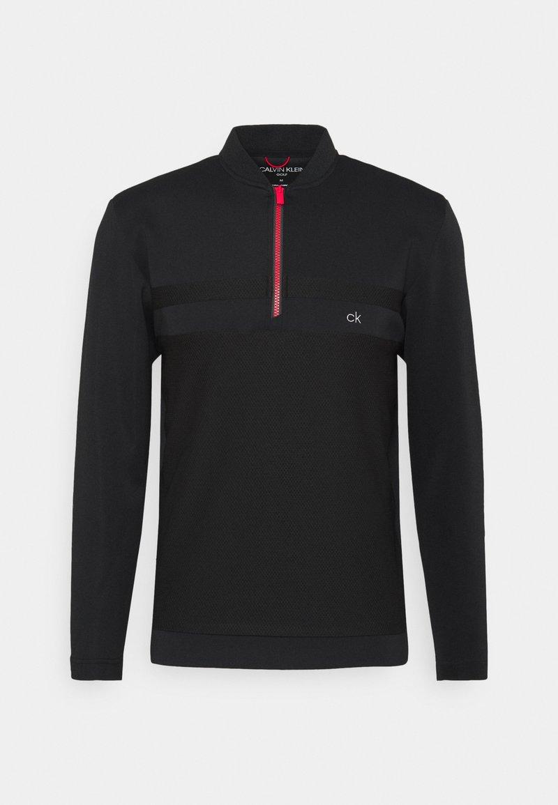 Calvin Klein Golf - BRAID HALF ZIP - Long sleeved top - black