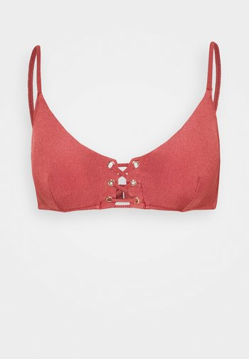 SUMMER SOLIDS - Bikinitop - rebel rose