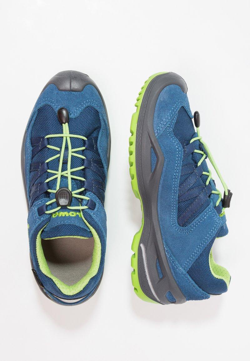 Lowa - ROBIN GTX LO - Hiking shoes - blau/limone