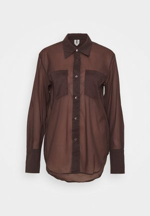 SHIRT - Button-down blouse - brown